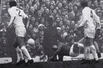 A brilliant reflex save by Jim Montgomery denies The Gunners an equaliser