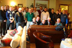 Group shot in clubhouse