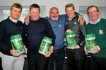 Phil Smith of Town Centre Citroen presenting winners of nearest the pin on par 3s